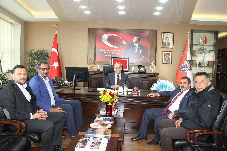 Emniyet Müdürümüz Mehmet Artunay'ı Makamında Ziyaret Ettik