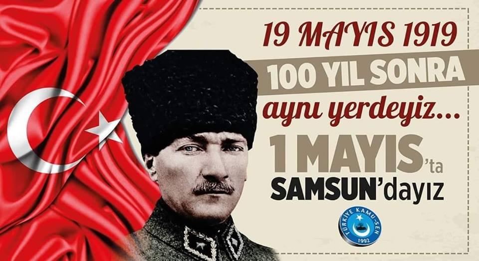 1 Mayıs'ta Samsun'dayız…