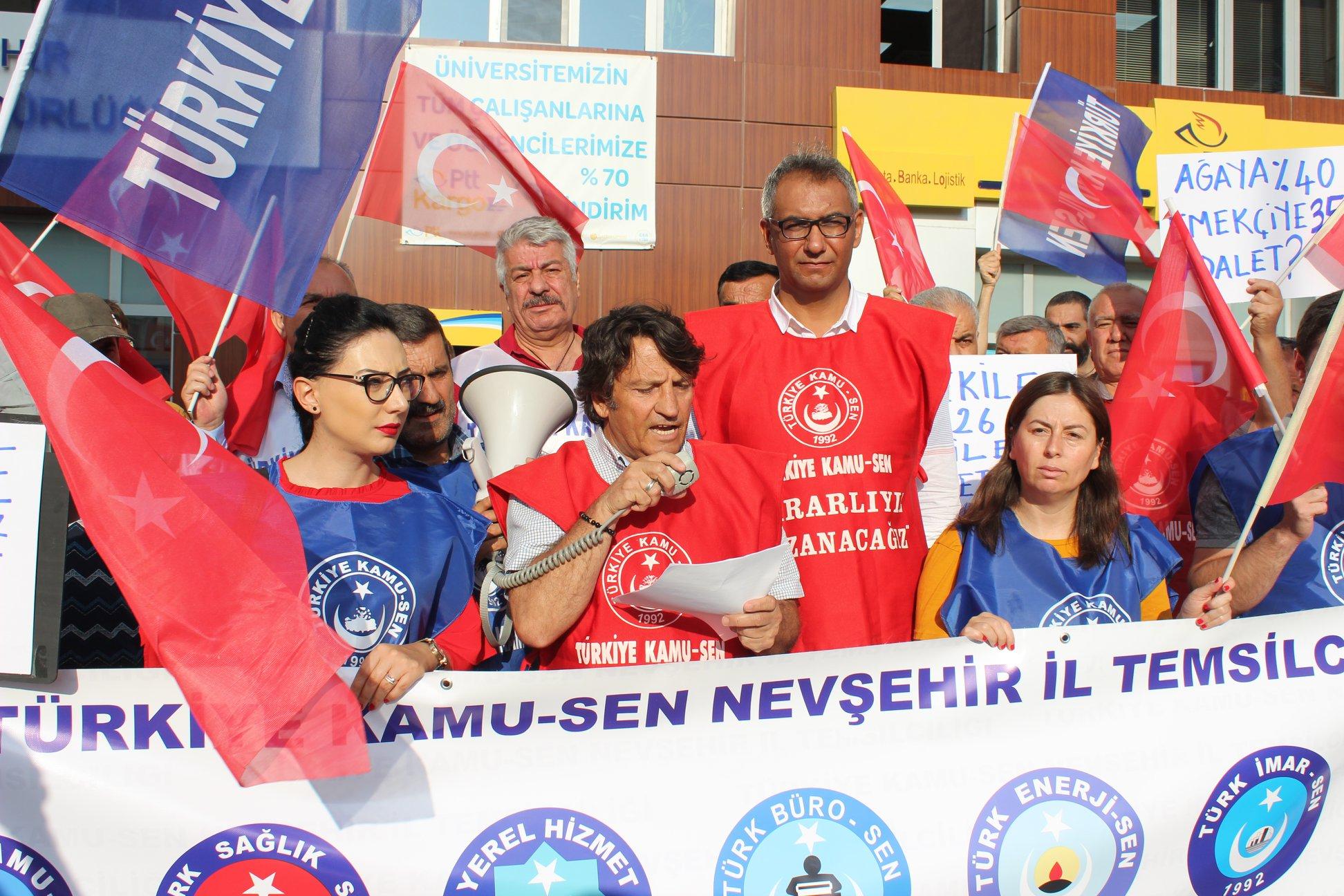 TES. Nevşehir İl Başkanı Tayfur Urgenç; Toplu Sözleşme Süreci Fiyasko ile Sonuçlanmıştır.