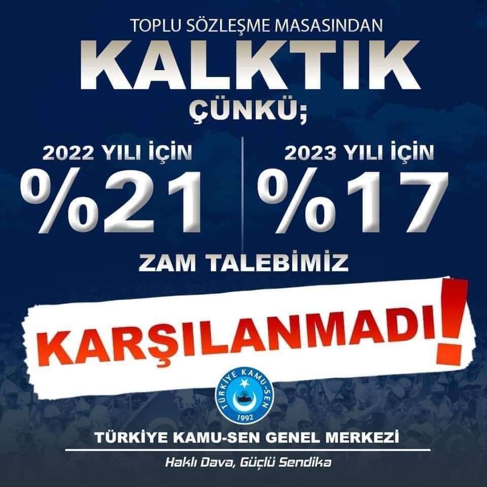 Türkiye Kamu Sen; Kamu çalışanlarının yüreğinin mutmain olmadığı yerde olmaz.
